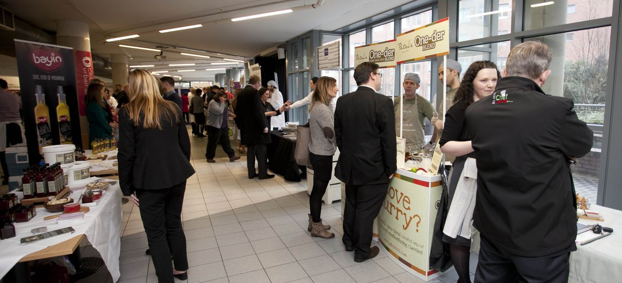 Dublin Food Producers enjoying the DFC Producer Showcase in DIT Jan 29 2015